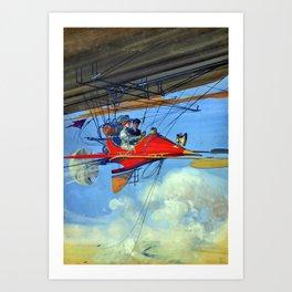 Vintage Aerostatic Cabriolet of Tomorrow Harry Grant Dart Futuristic Air Travel Art Print