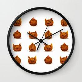 A Hen's Many Faces Wall Clock