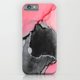 Pink & Grey Abstract iPhone Case
