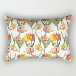 Vintage Floral Pattern | No. 3B | Tulips Rectangular Pillow