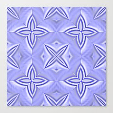 Pattern in blue Canvas Print