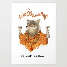 Le loup-gourou Art Print