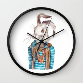 Hare hipster (male) Wall Clock