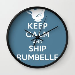 Keep calm and ship Rumbelle Wall Clock