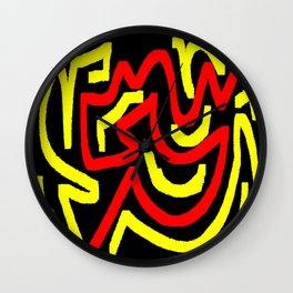 Black yellow red Wall Clock