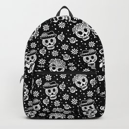 Black and White Day of the Dead Sugar Skulls Backpack