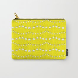 Flag Banner Illustration in Happy Yellow and White Carry-All Pouch