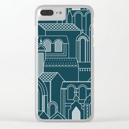 Ukrainian Church Monochrome Clear iPhone Case