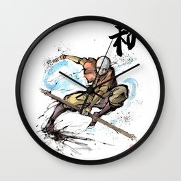 Aang from Avatar the Last Airbender sumi/watercolor Wall Clock