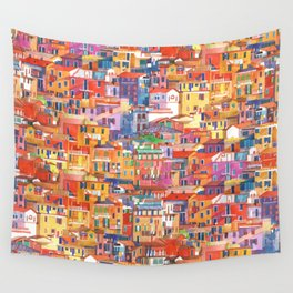 Seamless Cinque Terre Wall Tapestry