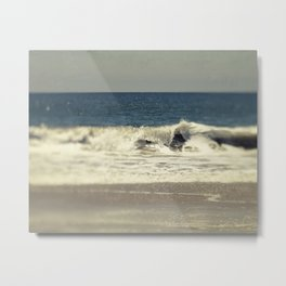 Indigo Blue Ocean Metal Print