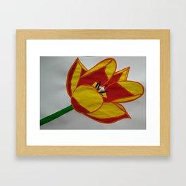 Handmade drawing of flower Framed Art Print