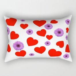 Hearts & Flowers Rectangular Pillow