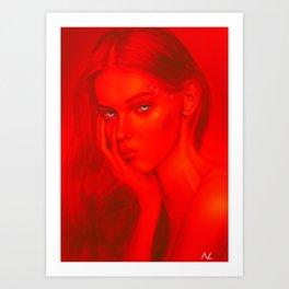 Gaze:red Art Print
