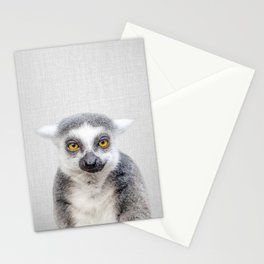 Lemur - Colorful Stationery Cards