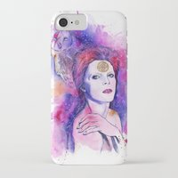 bowie iPhone & iPod Cases featuring Bowie by Kinko-White