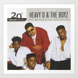 Heavy D & the Boyz - BLM - Hip Hop - Society6 - Dwight Arrington Myers 334 Art Print