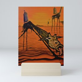 Giraffe Dali Mini Art Print
