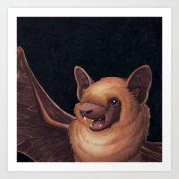 A Little Brown Bat Story Art Print