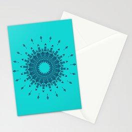 Blue Symmetry  Stationery Cards