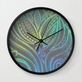 Lazy Days - Teal  Wall Clock