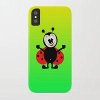ladybug iPhone & iPod Cases featuring Ladybug by Digital-Art