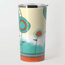 Four Wild Flowers Travel Mug