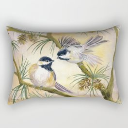 Chickadees Rectangular Pillow