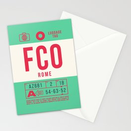 Baggage Tag B - FCO Rome Fiumicino Italy Stationery Cards