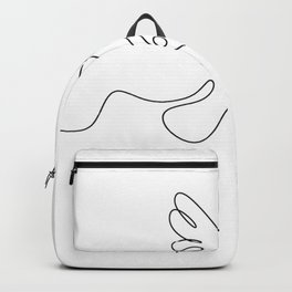 Line dove of peace Backpack