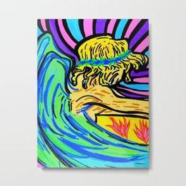 Angel surfer Metal Print