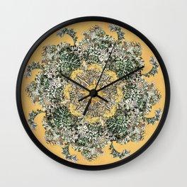 Silver Artemsia Mandala Wall Clock