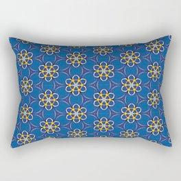 Galactic Flowers Rectangular Pillow
