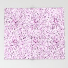 violet garden leaf pattern Throw Blanket