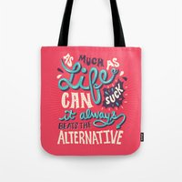 paper towns Tote Bags featuring Paper Towns: It Beats The Alternative by Risa Rodil
