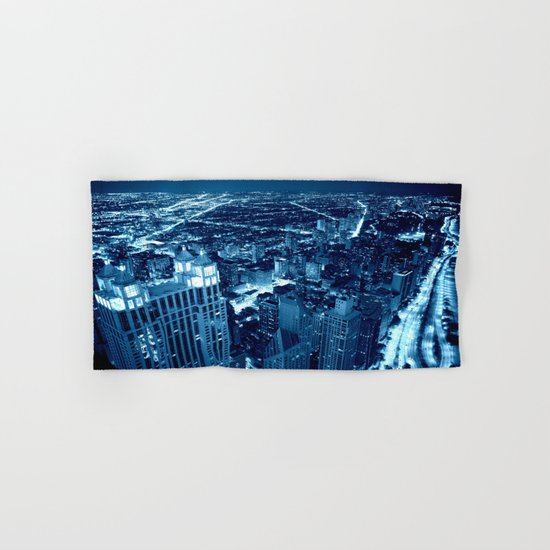 Chicago Nights Blue Hand & Bath Towel