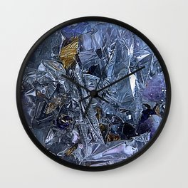 Decoration Blue Wall Clock