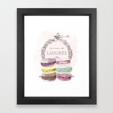 French Macaroon, Kitchen Art, Pastel Framed Art Print