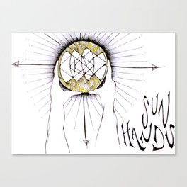 Sun Hands Canvas Print
