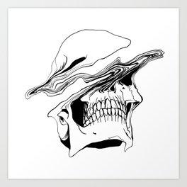 Skull #2 (Liquify) Art Print