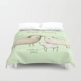 The Sheep Family Duvet Cover