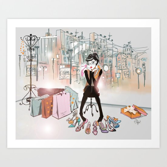 City Boutique Two Art Print