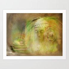 Buddha Illustration Art Print