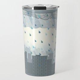 Rain in the city Travel Mug