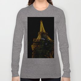 Eiffel Tower lit up at night, Paris Long Sleeve T-shirt
