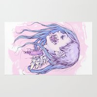gore Area & Throw Rugs featuring Pastel Gore Girl by Savannah Horrocks