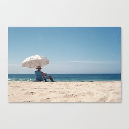 Old mate at the beach Canvas Print