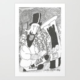 Posting A Letter Art Print