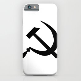 Hammer And Sickle Russia Emblem Silhouette iPhone Case