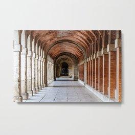 Arcade in Royal Palace of Aranjuez in Madrid Metal Print